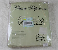 Classic Slipcovers Loveseat Machine-Washable Twill Brushed Cotton Ivory