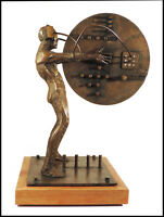 Ted Gall Large Original Bronze Industrial Sculpture Signed Modern Figurative Art