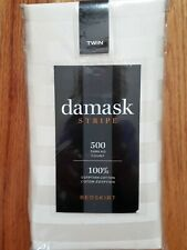 500 Thread Count Damask Stripe Twin Bed Skirt
