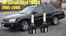 LED For BAJA TURBO 2005-2006 Headlight Kit H1 6000K White CREE Bulbs Low Beam