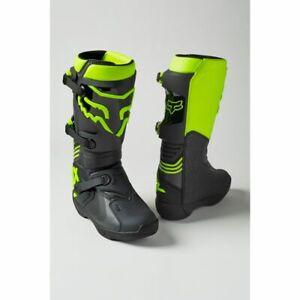 Fox Racing Comp Boot Stiefel - Motocross MX Cross Enduro Schwarz Gelb Neon *NEU*