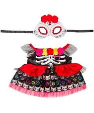 BUILD A BEAR FACTORY INTERNATIONAL HALLOWEEN MEXICAN DAY OF THE DEAD COSTUME NWT