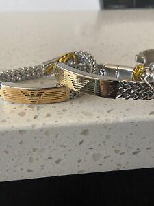 Armani Golden Bracelet For Men And Women