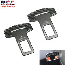 2x Safety Seat Belt Buckle Alarm Eliminator Clip for Subaru BMW Audi Chevy Ford