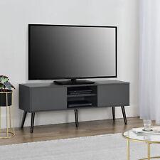 en.casa Fernsehtisch TV Lowboard Board Fernseher Schrank Unterschrank Dunkelgrau