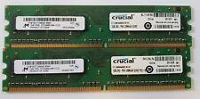 Desktop RAM DDR2, 2GB (2x1GB) Crucial PC2-6400 800 Mhz 240-Pin CT12864AA800.8FHZ