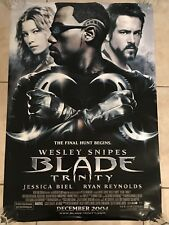BLADE TRINITY MOVIE POSTER 2 Sided ORIGINAL FINAL 27x40 WESLEY SNIPES