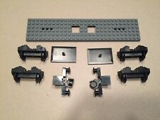 LEGO Train Complete Flat Car w/ Buffers Wheels and Magnets 9V Electric Railroad