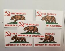 California State Flag Vintage Decals Stickers 5 PACK LOT, CCCP USSR Gov. Reagan