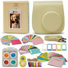 Xtech FujiFilm Instax Mini 9/8 Cream Color Accessories Kit w/Cream Camera Case..