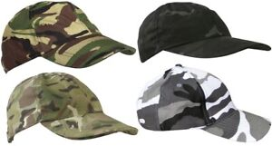 NEW KombatUK Kids Childs Boys Adjustable Duckbill Ripstop Camo Baseball Cap Hat