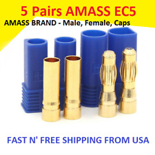 5 Pairs Amass EC5 Connector Plug for RC Car Plane Helicopter Battery Lipo ESC