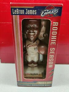 LEBRON JAMES #23 COLLECTIBLE  BOBBLE HEAD  CLEV. CAVS ROOKIE SEASON MARCH 3 2004