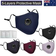 2/5/10 Protective Face Masks Roof Mouth Shield Respirator 5-Layers Protection AU