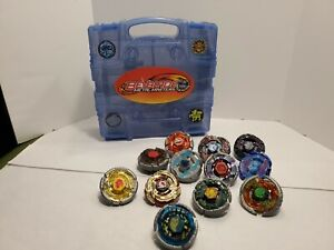 Beyblade Metal Masters lot of 12 With Carrying Case Read Description