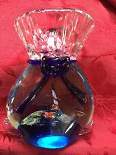 FLAWLESS Stunning MURANO Italy Glass AQUARIUM IN A BAG Shell Starfish Lighthouse