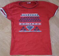 Fawn T Shirt Tee Top Short Sleeves Red Size M 4042