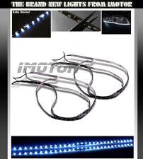 2 x Cutable Side Shine 7000K White SMD LED Strip Headlights Grille Fog Light Bar