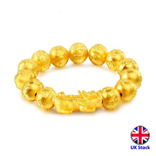Gold Plated Pixiu Bracelet Wealth Lucky Charm - 3 designs - UK Stock