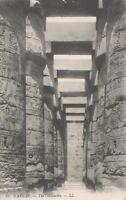 VINTAGE EGYPT LUXOR KARNAK TEMPLE THE COLONNADES POSTCARD - UNUSED
