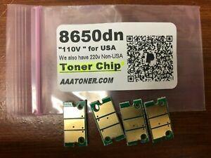 4 x Toner Chip for Konica Minolta Magicolor 8650, 8650dn, 8650hdn Refill