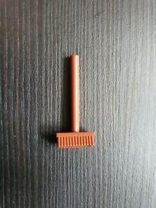Genuine Lego Broom - Reddish Brown 3836