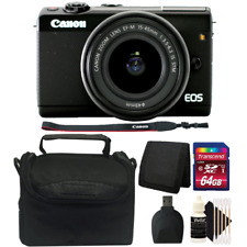 Canon EOS M100 Mirrorless Digital Camera w/ 15-45mm Lens and 64GB Accessory Kit