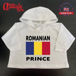 Romania Baby Hoody-White-Printed-Romanian Prince-Romania Baby Clothes-Baby Hoody