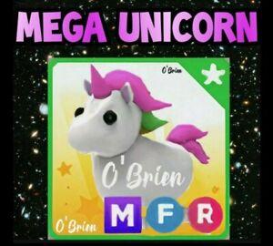 🦄 (MFR) MEGA UNICORN 🦄  Fly Ride . Adopt me - Roblox. Legendary pet uni