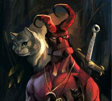 Comics Hellboy Silk Poster/Wallpaper 15 X 14 inches