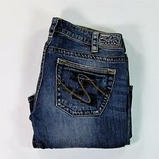 Siver Jeans TUESDAY Women Jeans Stretch Boot Cut Low Rise Destroyed Size 30/31