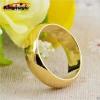 Strong Magnetic Round Gold Ring Comfort Fit PK Magic Tricks Props magician prop