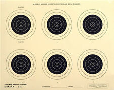"""(50) RB-50-6-7 Official 50-Yd NMLRA Round Ball Rifle Target [17.5"""" x 22""""] on tag"""