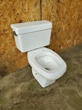 Vintage Eljer White Oblong Toilet Working Condition