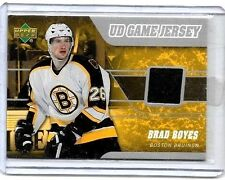 BRAD BOYES LOT OF 2 DIFFERENT AUTHENTIC GAME WORN JERSEY CARDS
