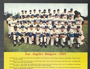 """1969 Los Angeles Dodgers Team Issued 8""""x10"""" Photo PL"""