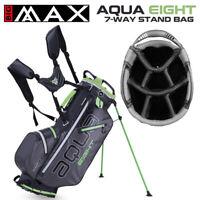 Big Max Aqua EIGHT Waterproof 7-WAY Golf Stand Bag Grey/Black/Lime - NEW! 2021