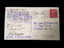 "1953 New York S.S. Siesta ""Pier 23"" Duke Kahanamoku to Nadine Postcard"