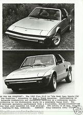 """BERTONE FIAT x1/9 """"Best for the 80' S"""" Fotografia originale 1982 ottime condizioni"""