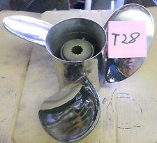 Turbo 1 13 1/4 x 20 Stainless Steel Propeller For OMC Model 400 And Cobra (T28)