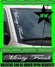 Minty Fresh VERTICAL Pillar Windshield Vinyl Decal Sticker Car Truck Boost Turbo