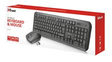 Trust 22844 Tastiera e Mouse Wireless - Nere