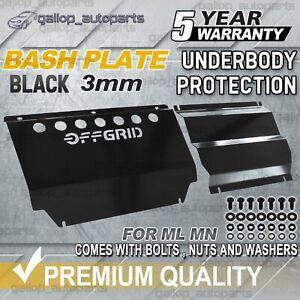 OFFGRID For Mitsubishi Triton Bash Plate ML-MN Powder Coated Black HEAVY DUTY