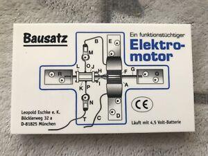 NEU Elektromotor Bausatz Leopold Eschke Schule Physik Unterricht Elektrotechnik