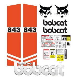 Bobcat 843 Melroe Skid Steer Set Vinyl Decal Sticker - 25 PC
