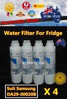 4 x Samsung DA29-00020B Fridge Replacement Water Filter SRF679SWLS SRF680CDLS