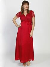 Maternity Formal Party Lace Dress - Red