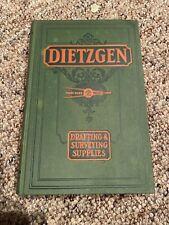 1928 VTG Catalog Dietzgen Drafting Surveying Supplies tools instruments old Book