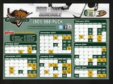 Utah Grizzlies--2013-14 Magnet Schedule--ECHL--Ducks Affiliate