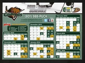 Utah Grizzlies--2013-14 Magnet Schedule--ECHL--Ducks Affiliate